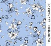 monotone on light blue outline... | Shutterstock .eps vector #1127636504