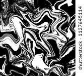 black and white marble ebru... | Shutterstock . vector #1127645114