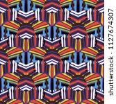 vector striped pattern with... | Shutterstock .eps vector #1127674307