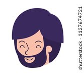 young man with beard head... | Shutterstock .eps vector #1127674721
