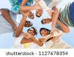 people  friendship and... | Shutterstock . vector #1127678354