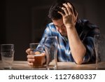 alcoholism  alcohol addiction... | Shutterstock . vector #1127680337