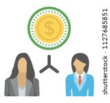 two businesswomen with dollar... | Shutterstock .eps vector #1127685851