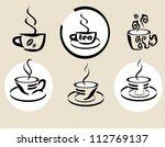 coffe tea | Shutterstock .eps vector #112769137