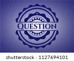 question emblem with jean... | Shutterstock .eps vector #1127694101
