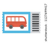 bus graphic on a card... | Shutterstock .eps vector #1127699417