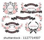 flower design set | Shutterstock .eps vector #1127714507