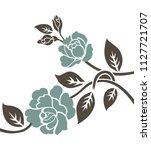 flower sketch for design | Shutterstock .eps vector #1127721707