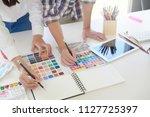 creative graphic designer... | Shutterstock . vector #1127725397
