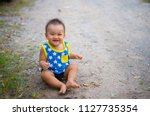faces and gestures of innocence ... | Shutterstock . vector #1127735354
