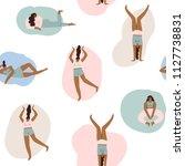 women feminist seamless pattern.... | Shutterstock .eps vector #1127738831