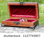 casket of mahogany mahogany... | Shutterstock . vector #1127745857