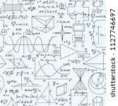 math vector seamless pattern... | Shutterstock .eps vector #1127746697