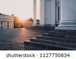 details of helsinki cathedral... | Shutterstock . vector #1127750834