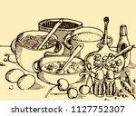 abstract vintage vector...   Shutterstock .eps vector #1127752307