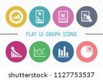 flat ui 8 color graph icon set. ... | Shutterstock .eps vector #1127753537