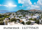 typical aegean  house ... | Shutterstock . vector #1127755625