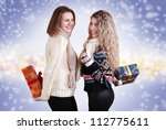two girls prepare surprise... | Shutterstock . vector #112775611