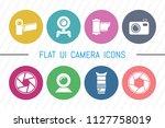 flat ui 8 color camera icon set....