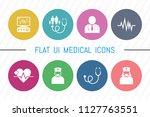 flat ui 8 color medical  ... | Shutterstock .eps vector #1127763551
