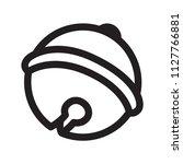christmas bells logo icon... | Shutterstock .eps vector #1127766881