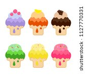collection of stickers with ice ...   Shutterstock . vector #1127770331