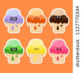 collection of stickers with ice ...   Shutterstock . vector #1127770334