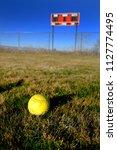 softball scoreboard on playing...   Shutterstock . vector #1127774495