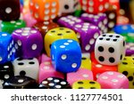 closeup of pile of dice for...   Shutterstock . vector #1127774501