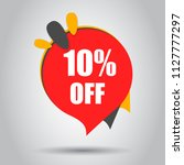 sale 10  off discount price tag ... | Shutterstock .eps vector #1127777297