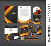 corporate identity template... | Shutterstock .eps vector #1127777864