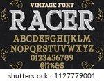 font alphabet script typeface...   Shutterstock .eps vector #1127779001
