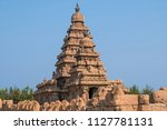 the shore temple at mamalapuram ... | Shutterstock . vector #1127781131
