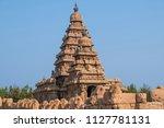 the shore temple at mamalapuram ...   Shutterstock . vector #1127781131