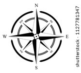 compass rose vector on an... | Shutterstock .eps vector #1127781347