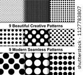 set of trendy polka dot...   Shutterstock .eps vector #1127783807