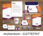 corporate identity business ... | Shutterstock .eps vector #1127787557