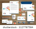 corporate identity business ... | Shutterstock .eps vector #1127787584