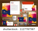 corporate identity business ... | Shutterstock .eps vector #1127787587
