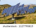 field of solar panel energy...   Shutterstock . vector #1127790815