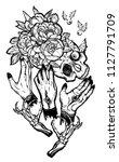 vector illustration. hands with ... | Shutterstock .eps vector #1127791709