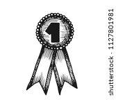medal winner with ribbon vector ... | Shutterstock .eps vector #1127801981
