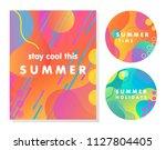 unique artistic summer cards... | Shutterstock .eps vector #1127804405