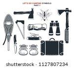 vintage hand drawn adventure ...   Shutterstock .eps vector #1127807234