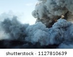 smoke from the mouth of the... | Shutterstock . vector #1127810639