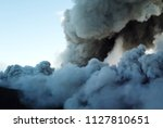 smoke from the mouth of the... | Shutterstock . vector #1127810651