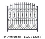 elegant decorative fence.... | Shutterstock . vector #1127812367