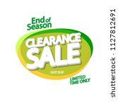 clearance sale tag  bubble... | Shutterstock .eps vector #1127812691