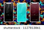 dark multicolor vector material ...