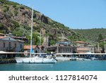 typical aegean architecture ... | Shutterstock . vector #1127814074